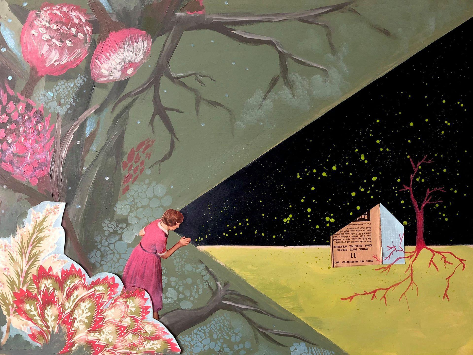 Kristin Schue 2Dpainting collage